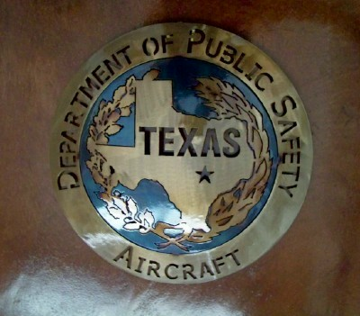 Texas DPS Aircraft Custom Metal Art