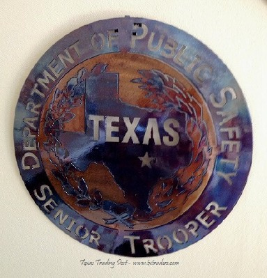 Texas DPS  SeniorTrooper Metal Art