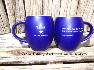 Coffee Mug -Davy Crockett - You may all go to hell and I will go to Texas!
