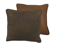 Euro Sham Pillow Cover - Reversible - Dark Tan