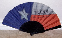 Folding Fan - Texas The Lone Star State