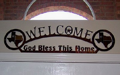 Welcome God Bless This Home-Texas Home Decor