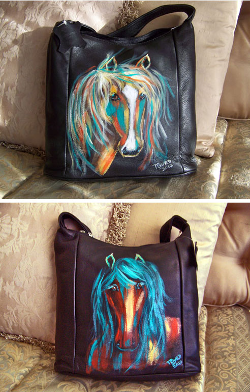 Horsin' Around Handbag-Hand Painted by a Texan and One of a Kind!