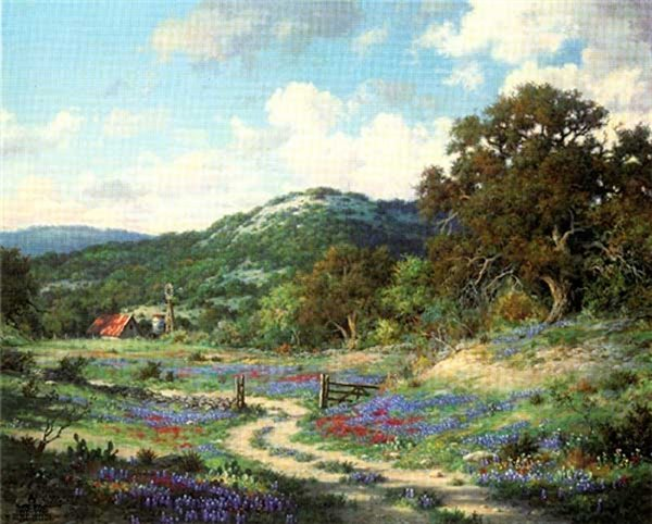 "A Texas Print ""Hill Country Evening"""