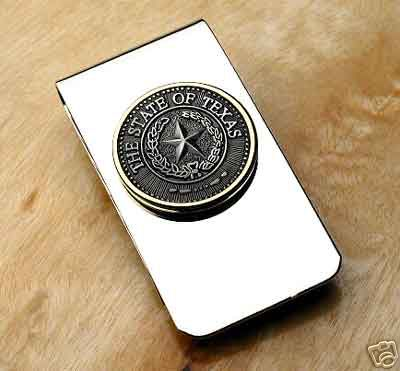 Texas State Seal Money Clip