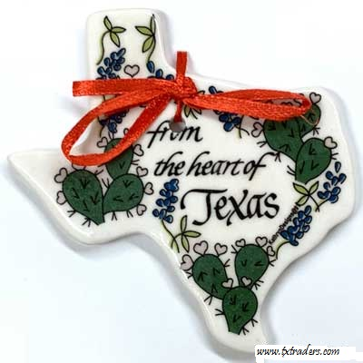 "Texas Ornament ""From the Heart of Texas"""