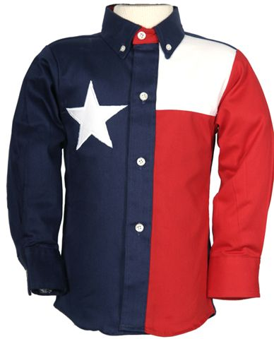 Texas Flag Long Sleeve Shirt for Boys & Girls