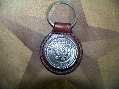 United States Army Key Ring - Leather Key Fob