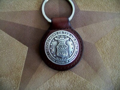 United States Air Force Key Ring - Leather Key Fob