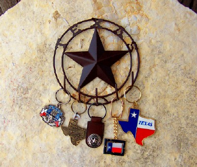Key Rack with Texas and Lone Star 5 Hooks