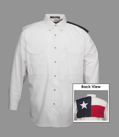 Fishing Shirt with Texas Flag - Long Sleeve