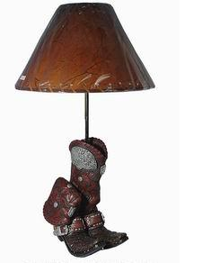 Texas Western Boot Lamp