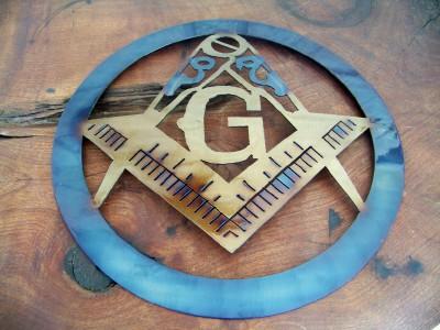 Mason Emblem Metal Art