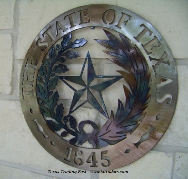 The State of Texas 1845- Texas Metal Art Decor