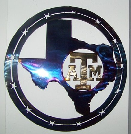 A&M set inside Texas-Metal Art 16""