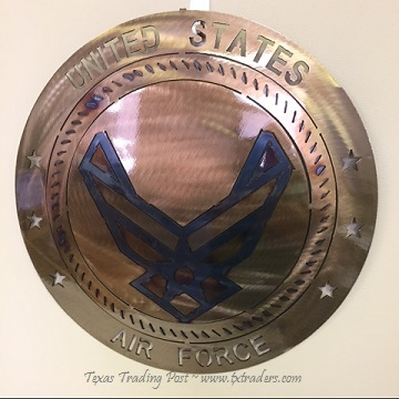 "Military - United States Air Force - 16"" Texas Metal Art"