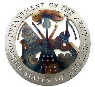 Military - United States Army - Texas Metal Art