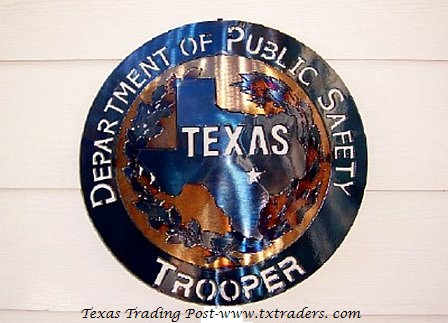 Texas DPS Trooper Metal Art