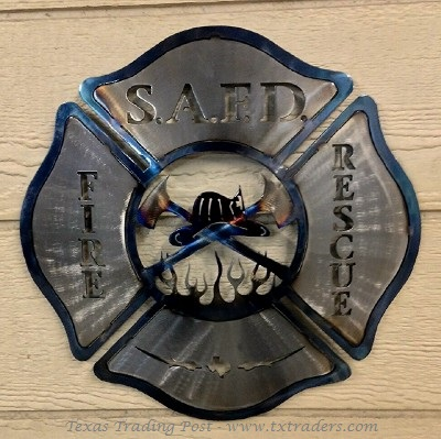 Fire and Rescue - San Antonio Fire Department Metal Art