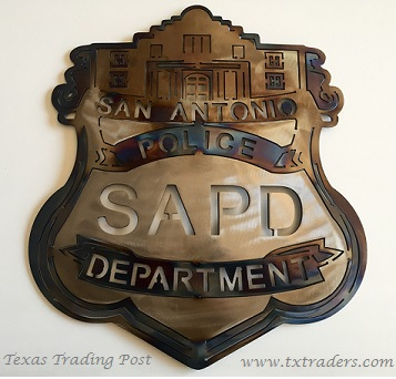 San Antonio Police Officer Badge Metal Art