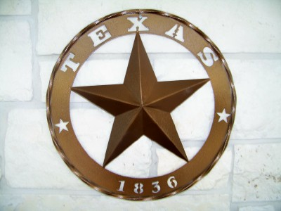 Texas Metal Art 1836 Star