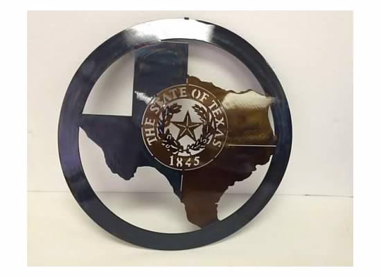 Texas Metal Art - State of Texas & Texas State Seal 1845