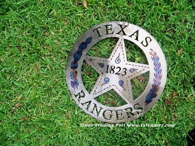 "Texas Rangers - 1823 - 16"" Texas Metal Art"