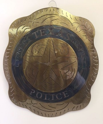 Texas Metal Art - Texas Police