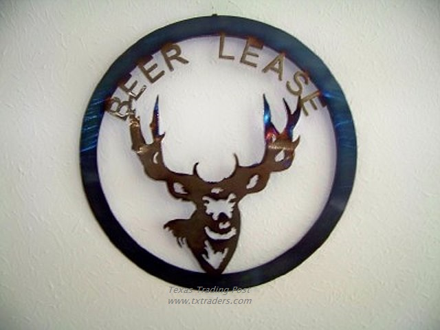 Beer Lease Texas Metal Art