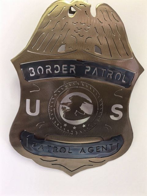 Texas Metal Art - Texas Border Patrol