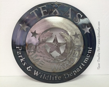 Texas Game Warden - Parks & Wildlife - Texas Metal Art