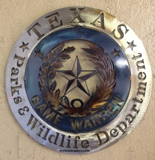 Texas Game Warden Metal Art