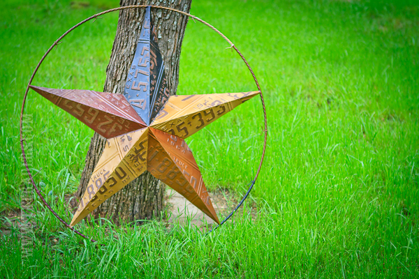 Texas Lone Star License Plate Metal Art, 36""