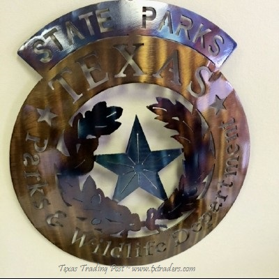 Texas Parks and Wildlife Metal Art