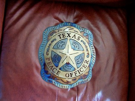 Texas Peace Officer Badge Metal Art