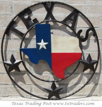 Texas Map Sign in our Texas Flag - 22""