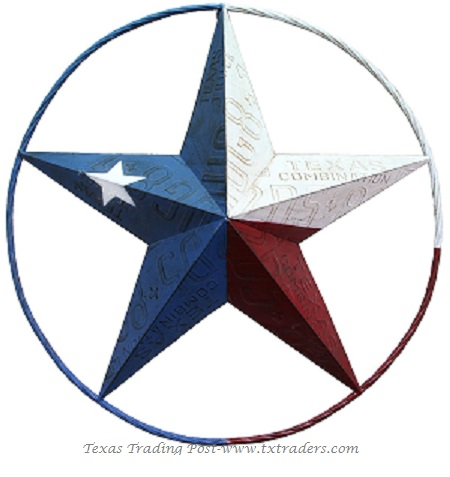 Texas License Plate Lone Star Metal Art