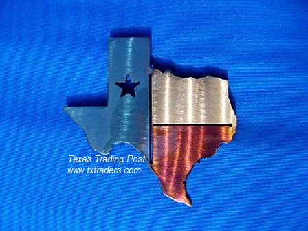 Texas Map Metal Art
