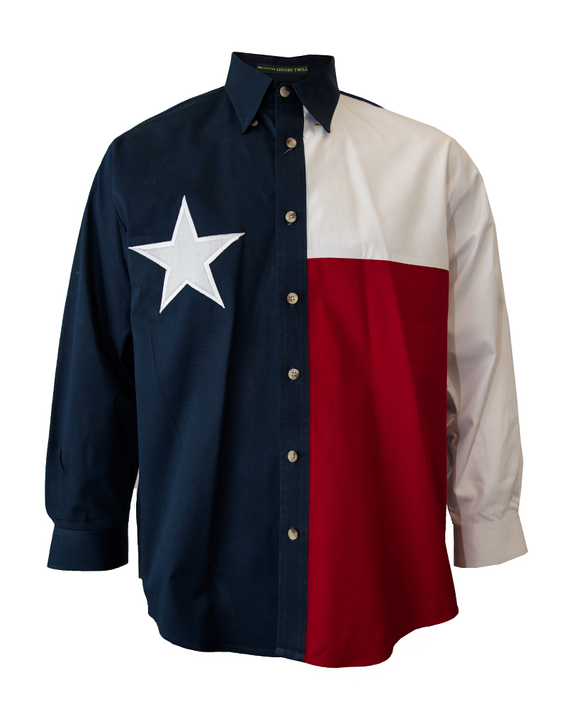 Texas Flag Long Sleeve Men's Shirt