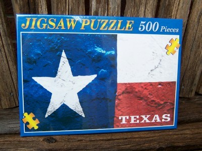 Puzzle - Texas Flag - 500 Piece Texas Puzzle