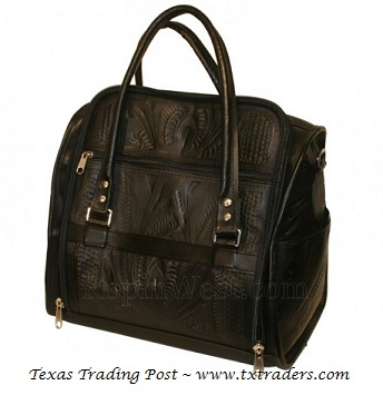 Ropin West Black Leather Toiletry Bag