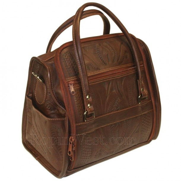 Ropin West Brown Leather Toiletry Bag