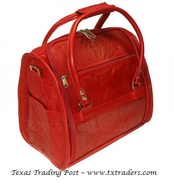 Ropin West Red Leather Toiletry Bag