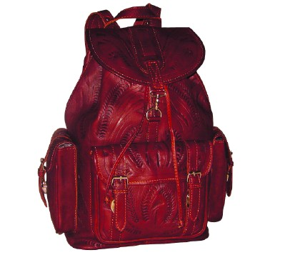 Ropin West Leather Handtooled Backpack