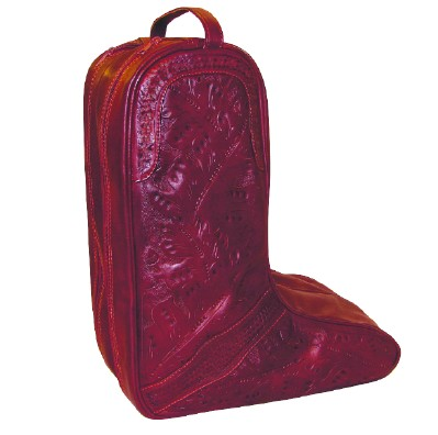 Ropin West Leather Handtooled Boot Bag