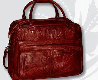 Ropin West Leather Handtooled Carry On