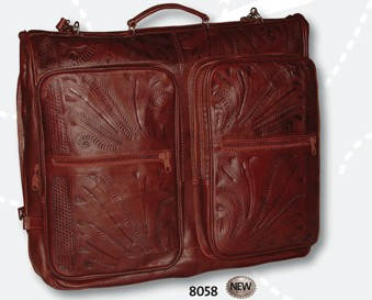 Ropin West Leather Handtooled Garment Bag