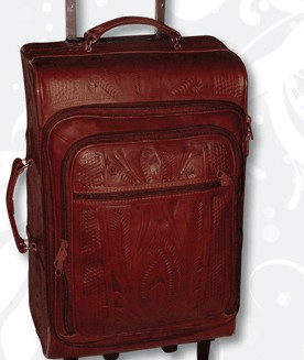 Ropin West Leather Handtooled Roller Bag