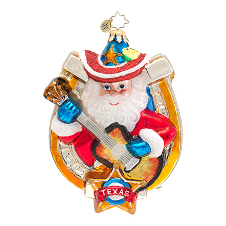 "Christopher Radko ""Lone Star Melody"" Christmas Ornament"