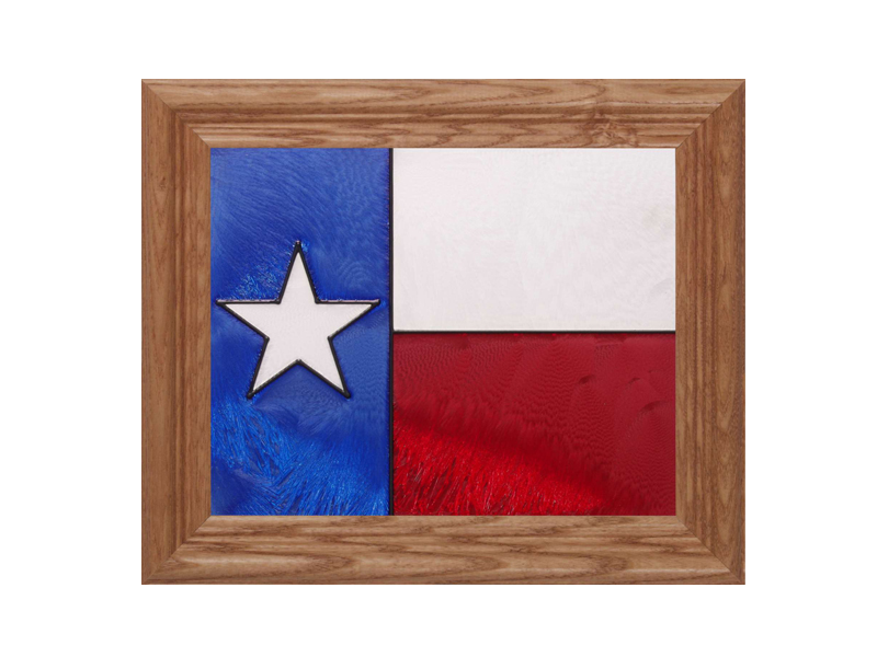 Texas State Flag - Hand Painted Glass Art